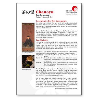 Begleitende Informationen über den Weg des Tees zu Anlass der grossen Spendenaktion im Schmiedenhof, Basel